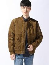 (M)リブキルティングボンバージャケット