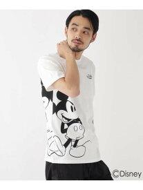 【SALE/30%OFF】BASECONTROL DISNEY ディズニー 「ミッキーマウス」/サイドプリント 半袖 Tシャツ ベース ステーション カットソー Tシャツ ホワイト ブラック