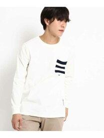 【SALE/30%OFF】BASECONTROL 長袖TシャツニットポケットWEB限定 ベース ステーション カットソー Tシャツ ホワイト ネイビー ブラック
