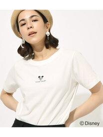 【SALE/50%OFF】AZUL by moussy ポイントミッキーTシャツ アズールバイマウジー カットソー カットソーその他 ホワイト ブラック レッド