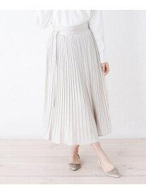 【SALE/60%OFF】OPAQUE.CLIP 【洗える】ドットランダムプリーツスカート オペークドットクリップ スカート ロングスカート グレー ネイビー