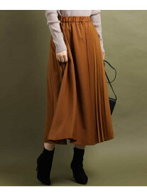 【SALE/30%OFF】MK MICHEL KLEIN 切替えプリーツスカート エムケーミッシェルクラン スカート スカートその他 ブラウン ブルー【送料無料】