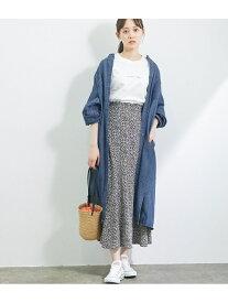 【SALE/10%OFF】ViS 【Daily use】デニムバンドカラーシャツワンピース<WEB限定> ビス ワンピース シャツワンピース ネイビー ブルー【送料無料】