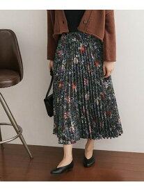 DOORS フラワープリントプリーツスカート アーバンリサーチドアーズ スカート【送料無料】