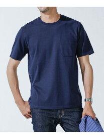 【SALE/10%OFF】nano・universe Anti Soaked ヘビークルーネックTシャツ ナノユニバース カットソー Tシャツ ネイビー グレー ホワイト【送料無料】