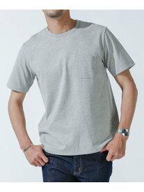 【SALE/10%OFF】nano・universe Anti Soaked ヘビークルーネックTシャツ ナノユニバース カットソー Tシャツ グレー ブラック ホワイト ブラウン ネイビー【送料無料】