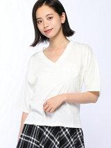 ポケット付5分袖Tシャツ