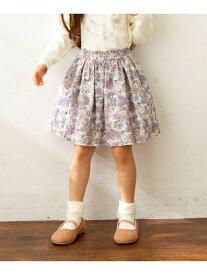 any FAM KIDS 【100‐130?】花柄スカパン エニィファム スカート スカートその他 ベージュ ホワイト ネイビー