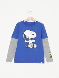 【SALE/24%OFF】GAP (K)スヌーピー 2イン1 Tシャツ (キッズ) ギャップ カットソー キッズカットソー グレー ブルー ホワイト レッド
