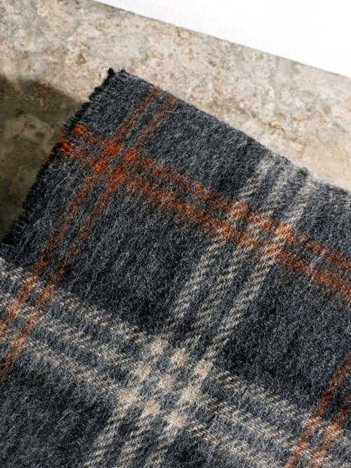 MOON×Magine WOOL CHECK MUFFLER