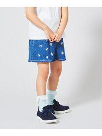 【SALE/50%OFF】【KIDS】小花刺繍 ライトオンスデニム ショートパンツ エニィファム パンツ/ジーンズ【RBA_S】【RBA_E】