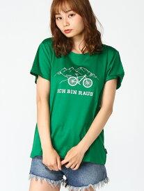 Schoffel (W)UV COTTON T-SHIRT BIKE ショッフェル カットソー Tシャツ グリーン レッド ホワイト【送料無料】