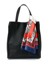 (L)カシュカシュ/大判スカーフ付トートバッグ