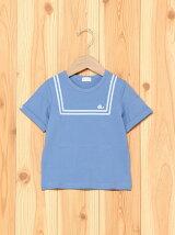セーラー風プリントTシャツ