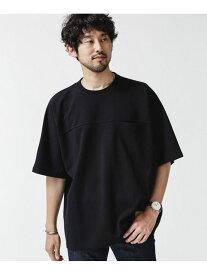 【SALE/20%OFF】nano・universe ポンチドルマンビッグTシャツ ナノユニバース カットソー Tシャツ ブラック グレー ホワイト