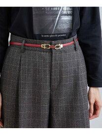 ROPE' PICNIC PASSAGE 10mm幅くるみビットシュリンクスライドベルト ロペピクニック ファッショングッズ ベルト レッド ブラック ブラウン ベージュ