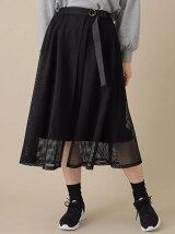 m 巻き風メッシュスカート