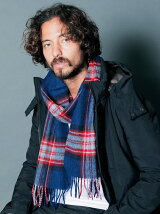 MOON×Magine WOOL TARTAN CHECK MUFFLER