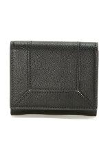 (L)カシュカシュ/カラー配色かぶせミニ財布