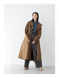 【SALE/50%OFF】LAATO BACK SLIT COAT ラート コート/ジャケット トレンチコート ブラウン グリーン【送料無料】