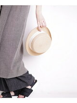 RAFFIA BRAID BOATER HAT