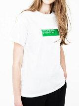 (M)【予約】ビッググリーンボックスロゴTシャツ・カットソー(男女兼用) 【関西コレクションにて着用】