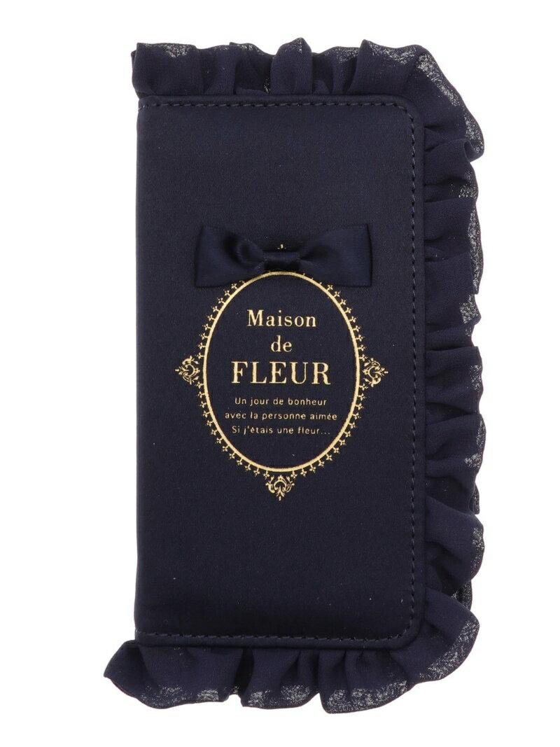 Maison de FLEUR iPhoneXフリルケース メゾン ド フルール バッグ