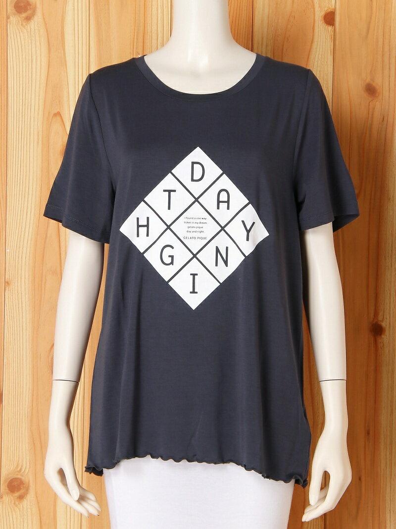 レーヨンロゴTシャツ ジェラートピケ インナー/ナイトウェア【送料無料】
