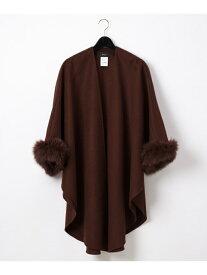 GRACE CONTINENTAL ロングケープ グレースコンチネンタル ファッショングッズ ストール ブラウン グレー ブラック【送料無料】