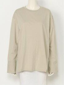 【SALE/45%OFF】Mila Owen カフスドッキングロングT/SH ミラオーウェン カットソー Tシャツ ベージュ ホワイト ブラウン