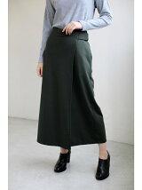 ソフトポンチラップスカート付ワイドパンツ