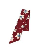 総柄細スカーフ