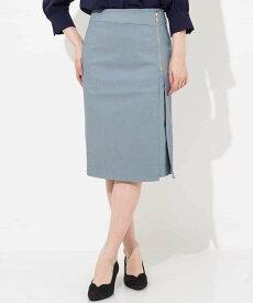 【SALE/20%OFF】OFUON ジップタイトスカート オフオン スカート【RBA_S】【RBA_E】【送料無料】
