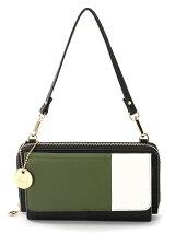 (L)カシュカシュ/カラーパッチワークお財布ショルダーバッグ