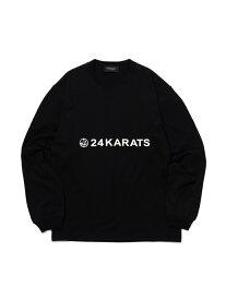 24karats 24karats/(M)Mid Night Basic Tee LS バーチカルガレージ カットソー Tシャツ ブラック ピンク ホワイト【送料無料】