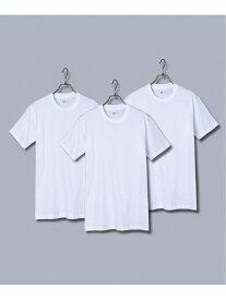 HANES (M)3枚組 アカラベルTシャツ クルーネック / Vネック ロッキーモンロー カットソー Tシャツ ホワイト
