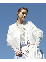 TULLE LAYERED LACE BLOUSON