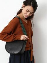 編みベルト半円ショルダーバッグ