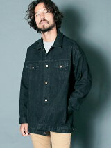REACTIVE DYE STRETCH BLK DENIM LONG G-JKT