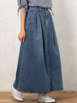 [別注]CB LEE(リー)×GLR ロング デニムスカート