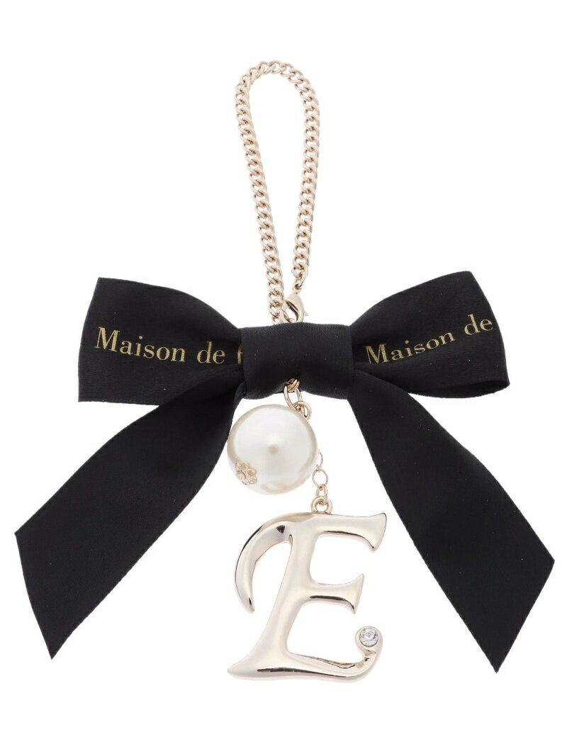 Maison de FLEUR イニシャルバッグチャーム メゾン ド フルール ファッショングッズ