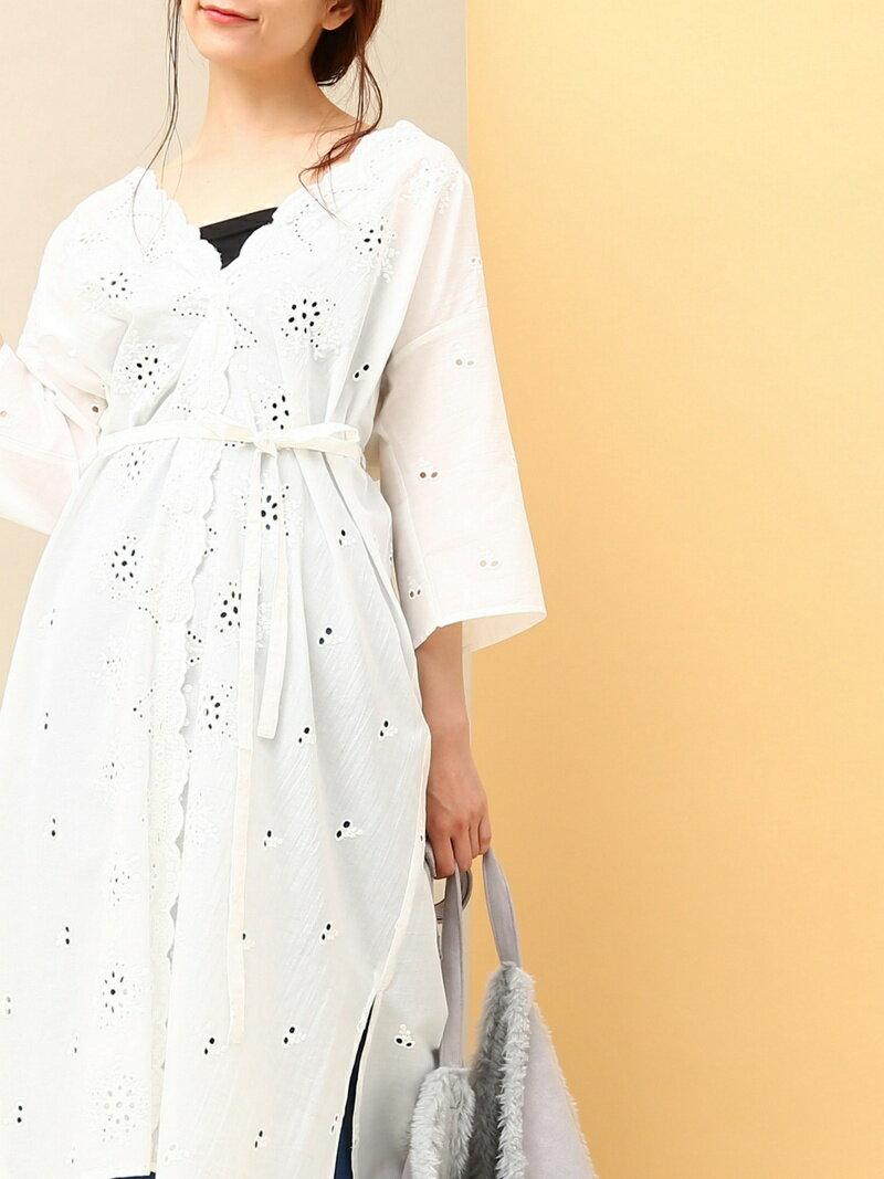 【SALE/50%OFF】パンチングレース刺繍ガウンワンピース ビス ワンピース【RBA_S】【RBA_E】