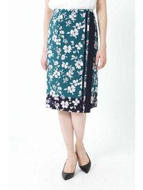 【SALE/60%OFF】NATURAL BEAUTY ◆[ウォッシャブル]スカーフエッジフラワースカート ナチュラルビューティー スカート スカートその他 グリーン ベージュ【送料無料】