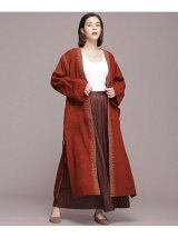 WOOL EMB GOWN COAT