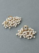 color pearl piercedearrings