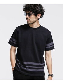 【SALE/20%OFF】nano・universe フォーメーションボーダーカットソー ナノユニバース カットソー Tシャツ ブラック ブルー ネイビー ホワイト