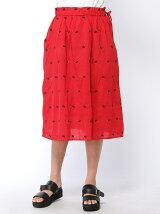 チョウチョ刺繍スカート