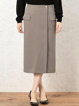KF サイドフラップジョーゼットタイトスカート