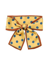 FREE'S MART ハンドルリボン(ビッグドット柄) フリーズ マート ファッショングッズ ストール オレンジ ブラウン