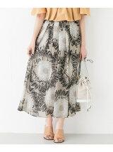花柄楊柳タックスカート